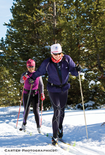cross country skiing into fitness