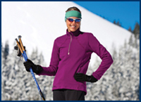 science of layering clothers for Nordic skiing