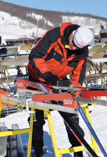 Waxing classic skis for cross country skiing