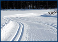 groomed trails at XC Ski Centers
