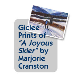 "Order Giclee prints of ""A Joyous Skier"" by Marjorie Cranston"